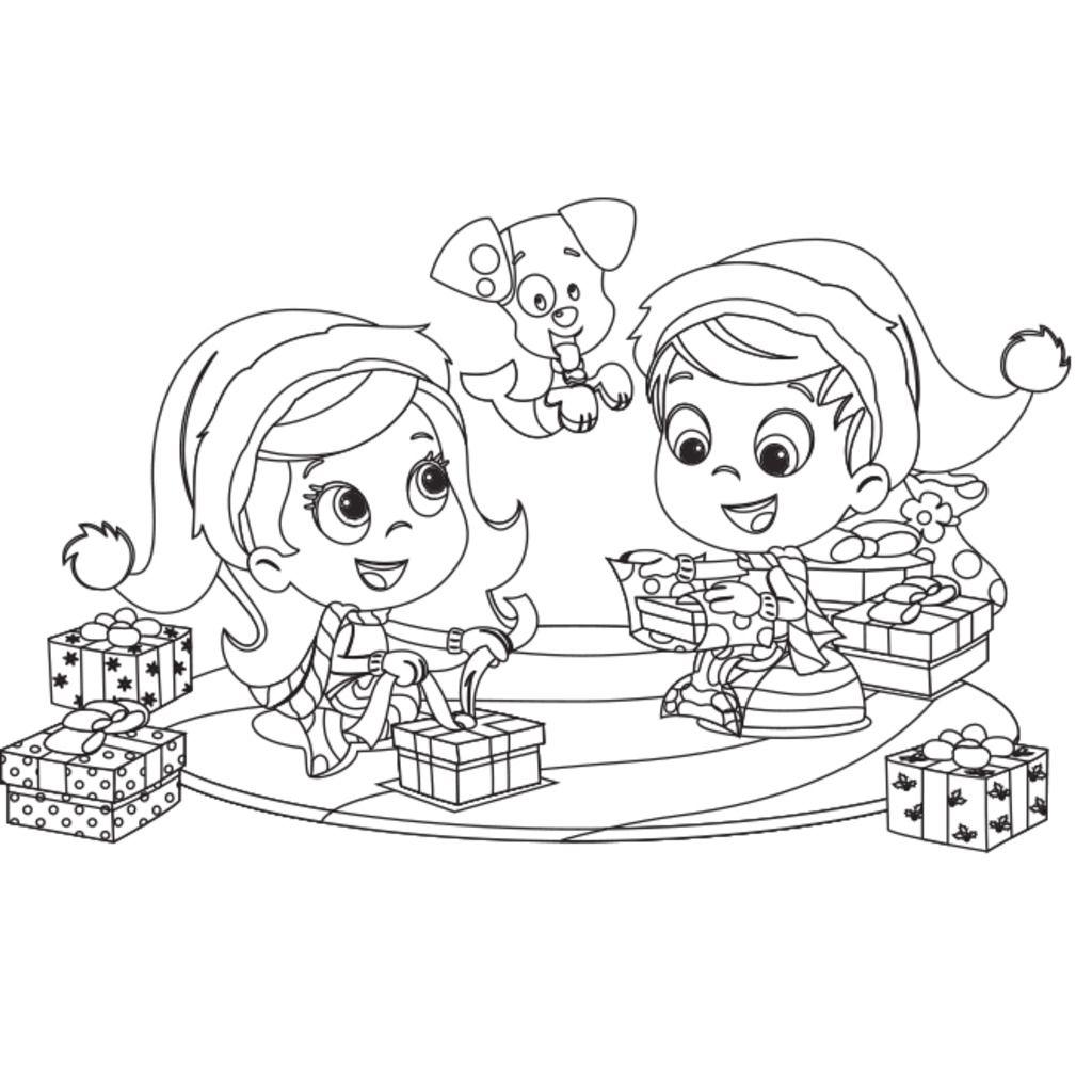 Lujo Los Guppies De Burbujas Para Colorear Molly Friso - Dibujos ...